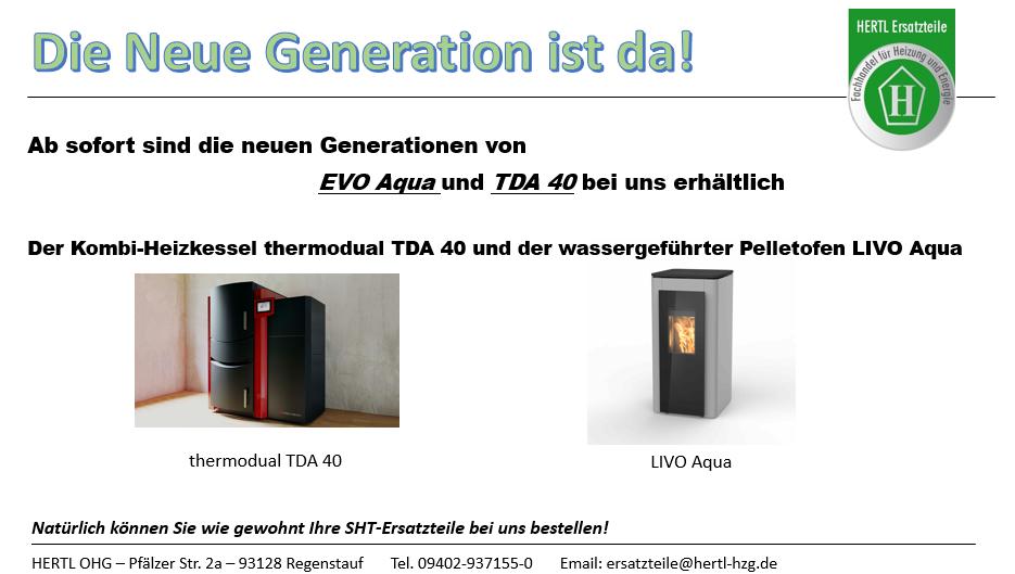 Hertl Ersatzteile Pelletsofen TDA EVO Aqua