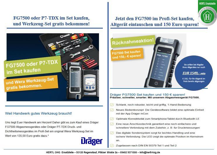 Hertl Ersatzteile Dräger FG7500 und P7-TDX