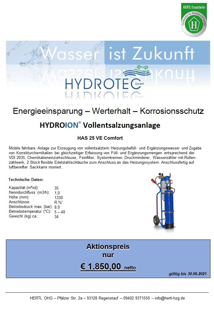 Hertl Ersatzteile Hydrotec HAS25