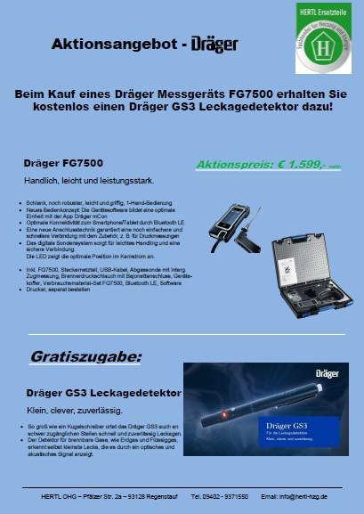 Hertl Ersatzteile Dräger FG7500